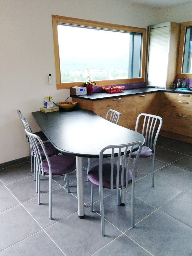 table de cuisine en granit