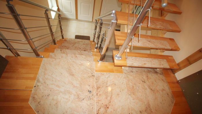 escalier en bois et granit pierre granit andr demange. Black Bedroom Furniture Sets. Home Design Ideas